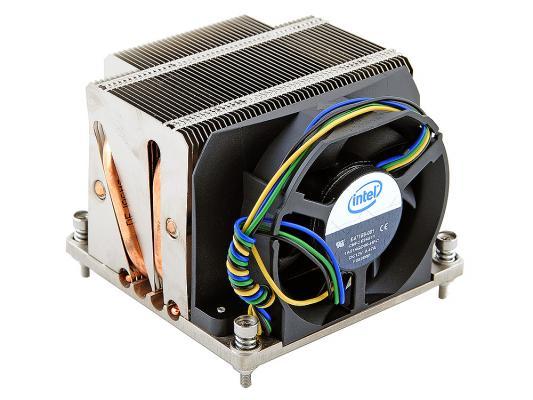 Кулер для процессора Intel STS100C, Socket 1366 (Cu+Al+тепловые трубки) Active/2U passive