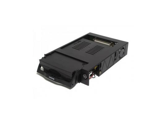 "Салазки для жесткого диска (mobile rack) для HDD 3.5"" AGESTAR SR3P-K-1FBK SATA черный"