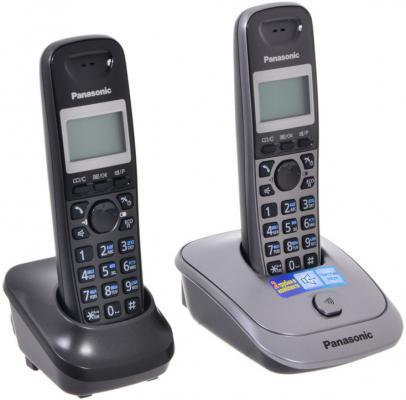 Телефон DECT Panasonic KX-TG2512RU1 темно-серый металлик цена и фото