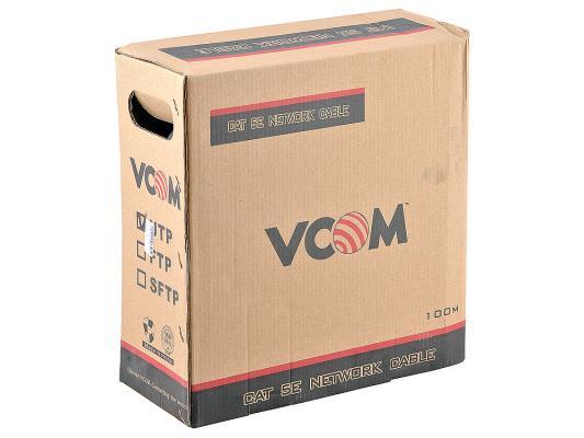 Кабель VCOM UTP VNC1000 4 пары кат 5е 100м кабель utp внешний 4 пары кат 5е 305 м neomax nm10031