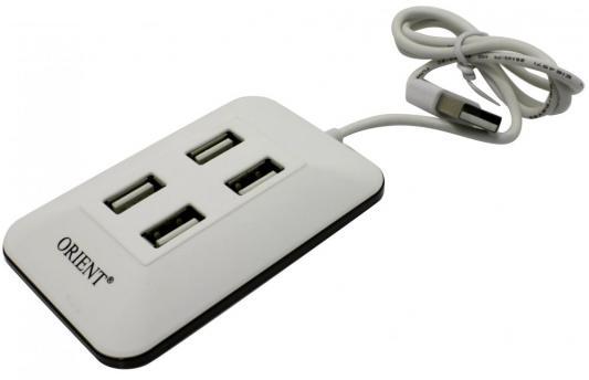 Концентратор USB 2.0 ORIENT MI-430 4 x USB 2.0 белый черный