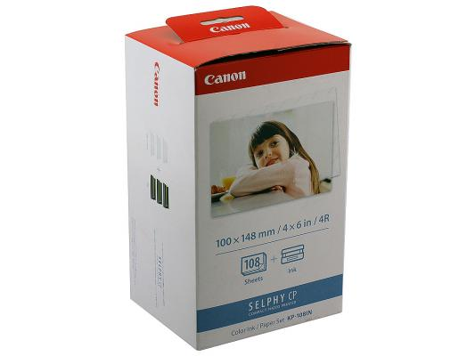 Набор для печати Canon KP-108IN Selphy CP100 200 300 400 500 600 700 CP800 CP810 CP900
