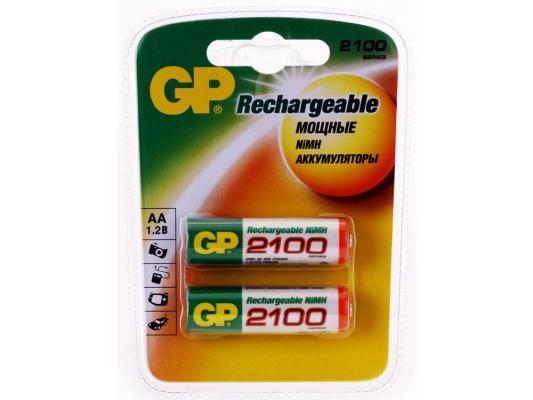 Аккумулятор 2100 mAh GP 210AAHC-2CR2 AA 2 шт