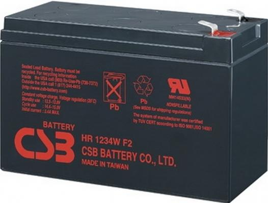 Батарея CSB HR1234W F2 12V/9AH батарея powerman ca1290 12v 9ah