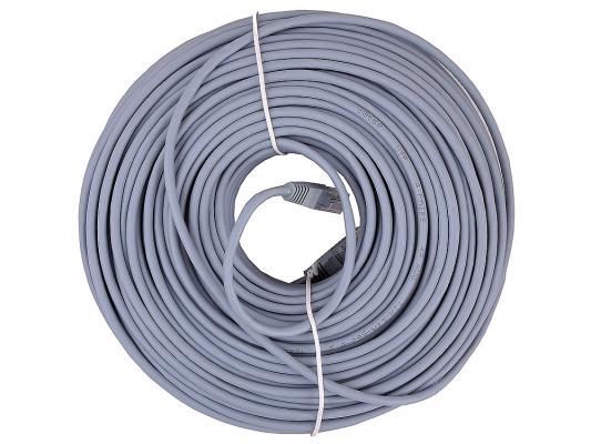 Патч-корд UTP 5e категории 50м серый CCA PVC цена и фото