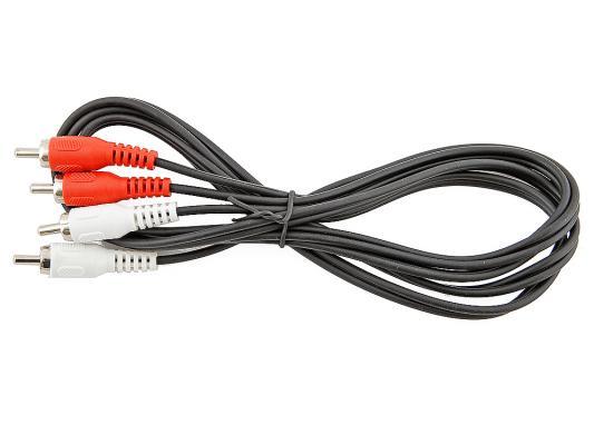 Кабель соединительный 1.5м VCOM Telecom 2xRCA (M) - 2xRCA (M) черный VAV7158-1.5M