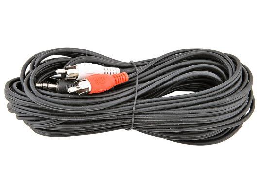 Фото - Кабель соединительный 10.0м VCOM Telecom 3.5 Jack (M) - 2xRCA (M) стерео аудио VAV7183-10M кабель соединительный 3 0м vcom telecom 3 5 jack m 2xrca m стерео аудио vav7183 3m