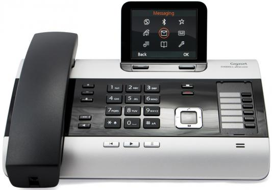 Телефон IP Siemens GIGASET DX800A VoIP ISDN 2xLAN Bluetooth all-in-one темно-серый
