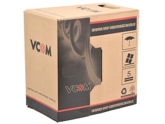 Кабель UTP indoor 4 пары категория 5e VCOM VNC1100-BL одножильный 305м кабель vcom cca utp кат 5е 4 пары бухта 305м vnc1100 омедненный