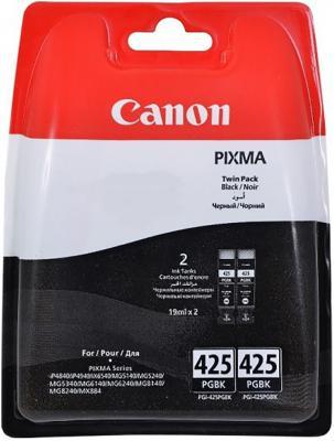 Картридж Canon PGI-425 PGBK TWIN для PIXMA iP4840 MG5140 MG5240 MG6140 MG8140 2 x 341стр черный двойная упаковка двойная упаковка картриджей canon pgi 520bk черный [2932b012]