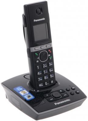 Радиотелефон DECT Panasonic KX-TG8061RUB черный телефон dect panasonic kx tg8061rub