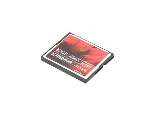 Карта памяти Compact Flash Card 32Gb Kingston Ultimate 266x CF/32GB-U2