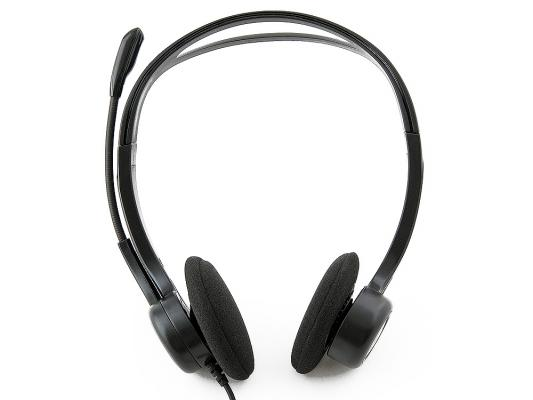 Гарнитура Logitech Stereo Headset PC 960, USB [981-000100] OEM не работает микрофон computer stereo gaming headphone casque sades sa807 3 5mm wired game headset with microphone mic for pc gamer