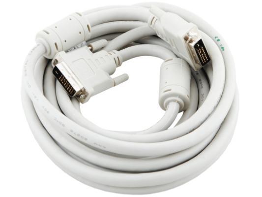 Кабель DVI-DVI 4.5м Dual Link Gembird 2 фильтра двойное экранирование CC-DVI2-15 цена и фото