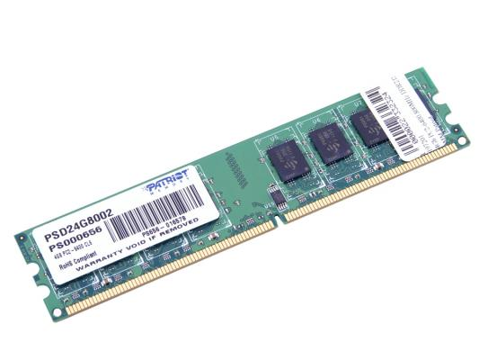 Оперативная память 4Gb PC2-6400 800MHz DDR2 DIMM Patriot patriot 512mb pc2 5300 cl5