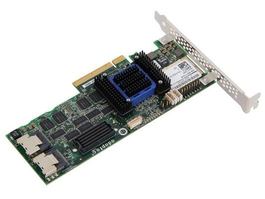 Контроллер SAS/SATA Adaptec ASR-6805 PCI-E v2 x8 LP SAS 6G RAID 0 1 10 5 6 50 8port 512Mb onboard 2271200-R KIT