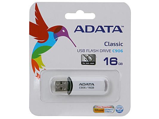 Фото - Флешка USB 16Gb A-Data C906 AC906-16G-RWH белый usb flash drive 8gb a data c906 classic black ac906 8g rbk