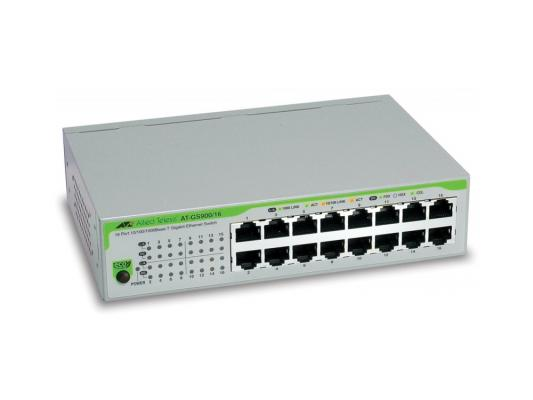 """Коммутатор Allied Telesis AT-GS900/16SO 16x10/100/1000TX unmanged switch, 19"""" rackmount hardware included"""