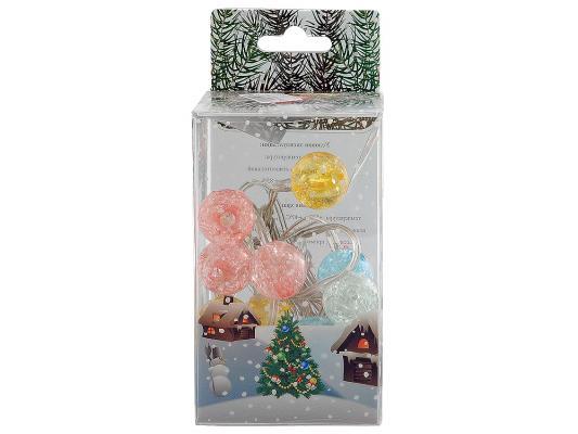 Гаджет ORIENT NY1420 Гирлянда Разноцветные шарики 14 разноцветных лампочек 2м питание от USB
