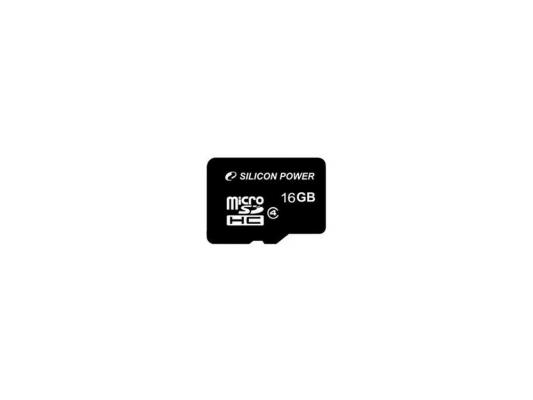 Карта памяти Micro SDHC 16GB Class 4 Silicon Power SP016GBSTH004V10