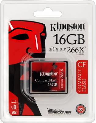 Карта памяти Compact Flash Card 16Gb Kingston Ultimate 266X CF/16GB-U2