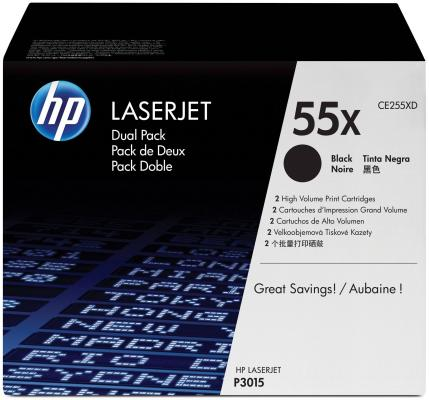 Картридж HP CE255XD для LaserJet P3015 двойная упаковка gzlspart for hp p3015d p3015 p 3015 hp3015 original used formatter board ce474 69001 ce474 60001 printer parts on sale