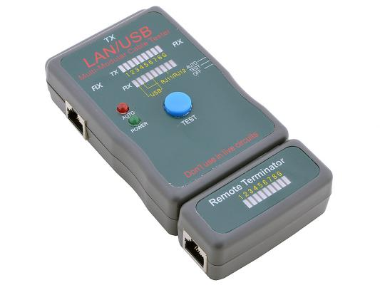 Тестер кабеля 5bites LY-CT011 и его длины для UTP/STP RJ45 RJ11/12 USB чехол тестер кабеля 5bites ly ct014 и его длины для utp stp rj45 bnc rj11 12