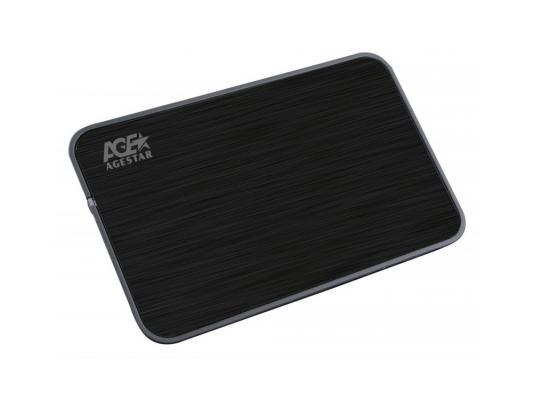 """Внешний контейнер для HDD 2.5"""" SATA AgeStar 3UB2A8 USB3.0 черный"""
