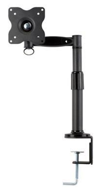 Настольное наклонно-поворотное крепление Kromax OFFICE-1 для LCD монитора 15-32 3 степени свободы 3D вращение VESA 75/100 max 10кг серый кронштейн kromax vega 50 белый