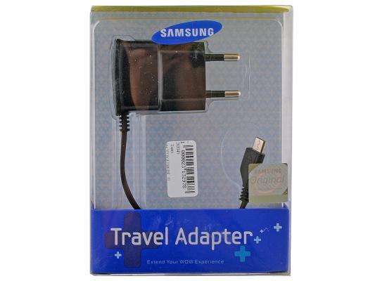 Сетевое зарядное устройство Samsung Travel Adapter ETA-0U10EBECSTD microUSB 0.7 А черный