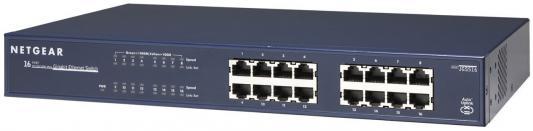 Коммутатор NETGEAR JGS516-200EUS неуправляемый 16 портов 10/100/1000Mbps коммутатор zyxel gs1100 16 gs1100 16 eu0101f
