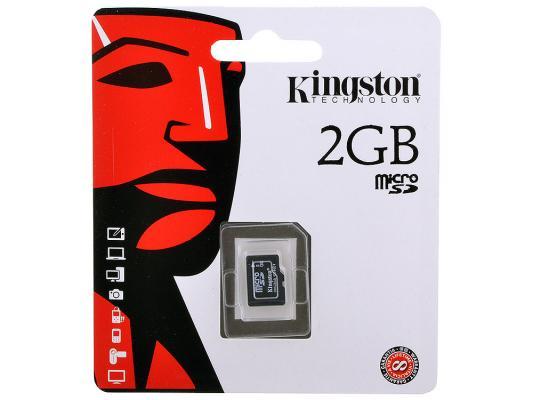 Карта памяти Micro SD 2GB Kingston SDC/2GBSP