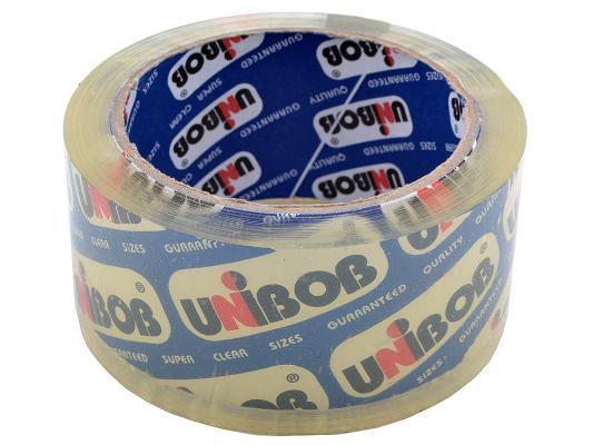 Клейкая лента упаковочная UNIBOB 600 48мм*66м 45 мкр кристально-прозрачная от 123.ru