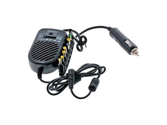 Блок питания автомобильный для ноутбука Ginzzu GA-4090U блок питания для камер видеонаблюдения ginzzu ga 1035 12v 1 0a