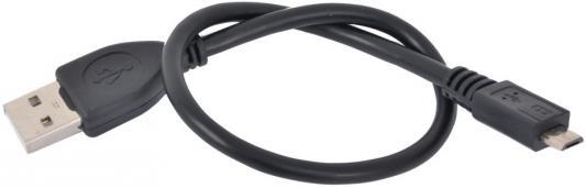 Кабель microUSB до 0.5м Gembird круглый CCP-mUSB2-AMBM-0.3M кабель microusb до 0 5м rexant круглый 18 1162