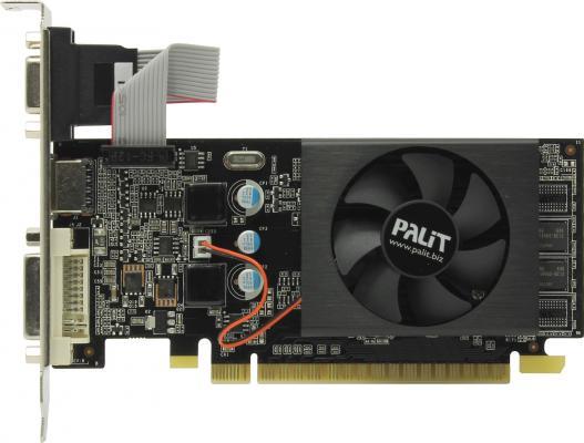 Видеокарта 1024Mb Palit GeForce GT610 PCI-E D-Sub DVI HDMI OEM