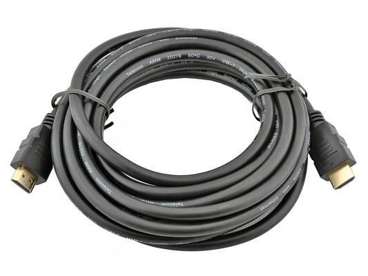 Кабель HDMI 5.0м VCOM Telecom v1.4 W/Ethernet/3D CG501D-5M с позолоченными контактами