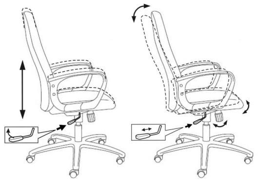 Кресло Buro CH-808AXSN/TW-12 серая тканевая обивка