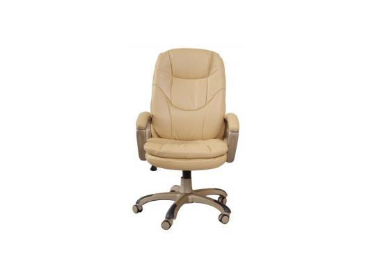 Кресло Buro CH-868YAXSN/Beige бежевая искусcтвенная кожа золотистый пластик