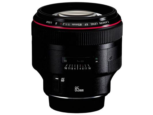 Объектив Canon EF 85mm f/1.2L II US 1056B005 объектив canon ef 24mm f 2 8 is usm черный