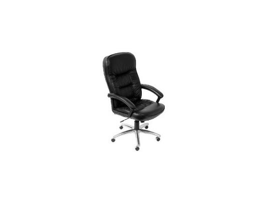 Кресло Buro T-9908AXSN-AB черная кожа алюминиевая основа