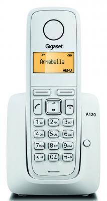 Радиотелефон DECT Gigaset A120 белый гребная надувная лодка intex 58330 explorer 200