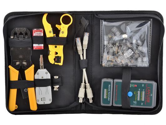 Набор инструментов 5bites TK032 клещи LY-T2008R LY-T2020B нож LY-T352 тестер LY-CT011 RJ11x20шт+RJ45x20шт