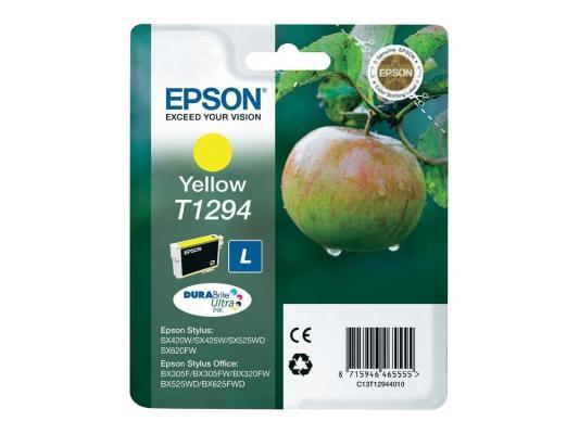 Картридж Epson C13T12944011/C13T12944021 для Epson Stylus SX420/425/525WD/B42WD/BX320FW желтый картридж epson t009402 для epson st photo 900 1270 1290 color 2 pack