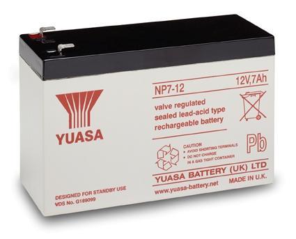 Батарея Yuasa NP7-12 12В/7А