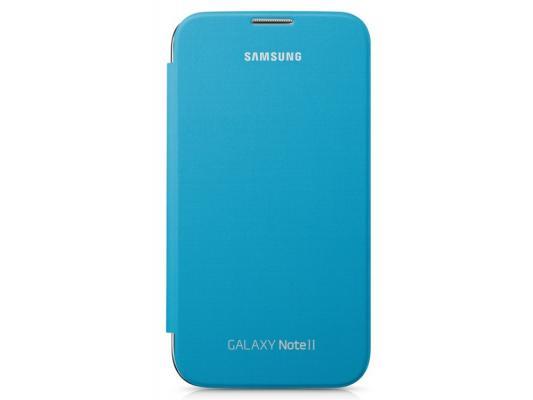 Чехол-книжка Samsung EFC-1J9FBEGSTD Flip Cover Blue для GT-N7100 Galaxy Note 2 синий