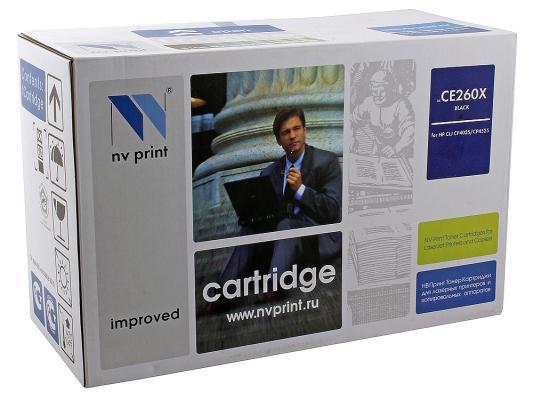Картридж NV-Print CE260X черный для HP Color LJ CP4520 4525 картридж для принтера nv print для hp cf403x magenta