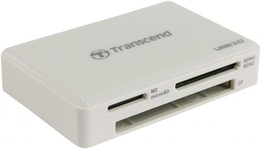 Картридер внешний Transcend TS-RDF8W USB3.0 CF/microSD/MMC/SD/SDHC/TF/MSduo/MSmicro белый цена