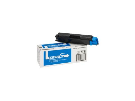 Картридж Kyocera TK-590C голубой для FS-C5250DN C2026MFP C2126MFP C2526MFP C2626MFP