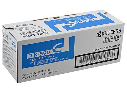 Картридж Kyocera TK-590C голубой для FS-C5250DN C2026MFP C2126MFP C2526MFP C2626MFP new original kyocera 302kv94210 drive feed assy for fs c5150dn c5250dn c2026mfp c2126mfp
